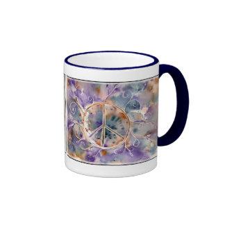Aquarell-Friedenszeichen Tasse