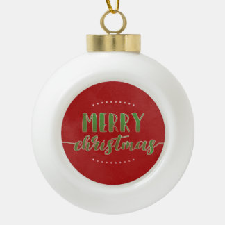 Aquarell-frohe Weihnachten Keramik Kugel-Ornament