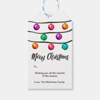 Aquarell, frohe Weihnachten, Verzierungs-Bälle Geschenkanhänger