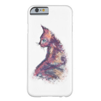 Aquarell gemalter Katze iPhone 6/6s Fall Barely There iPhone 6 Hülle