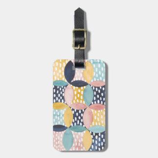 Aquarell-geometrische Kreise Gepäckanhänger