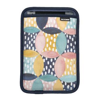 Aquarell-geometrische Kreise Sleeve Für iPad Mini