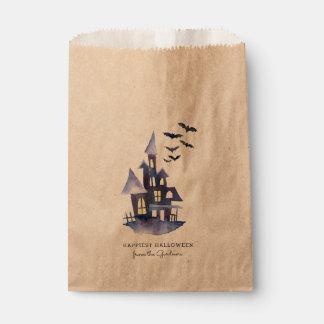 Aquarell-gespenstisches Haus Geschenktütchen