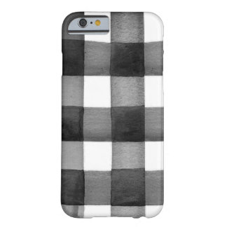 Aquarell-Gingham iPhone Fall Barely There iPhone 6 Hülle