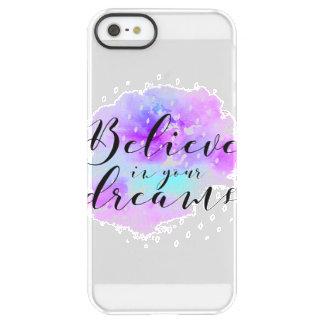 Aquarell glauben an Ihr Traum-Zitat Permafrost® iPhone SE/5/5s Hülle