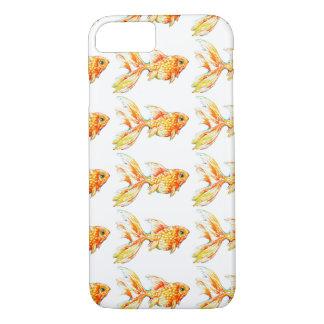 Aquarell-Goldfisch-artesischer Telefon-Kasten iPhone 8/7 Hülle