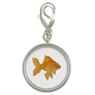 Aquarell-Goldfisch-Charme Charm
