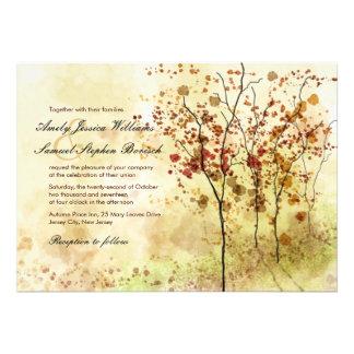 Aquarell-Herbst-Bäume die Einladung Wedding sind