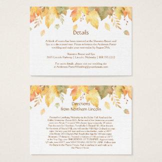 Aquarell-Herbst-Fall-Einzelkarten | Visitenkarte