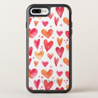 Aquarell HERZ OtterBox Symmetry iPhone 8 Plus/7 Plus Hülle