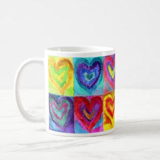 Aquarell-Herzen Kaffeetasse