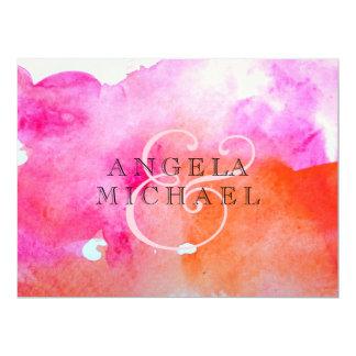 Aquarell-Hochzeits-Druck 16,5 X 22,2 Cm Einladungskarte