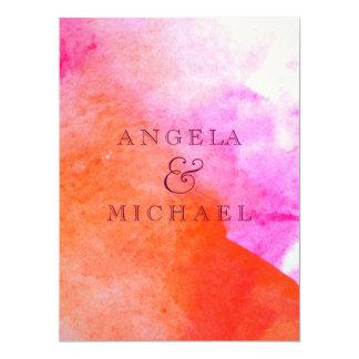 Aquarell-Hochzeits-Druck Individuelle Ankündigungskarte