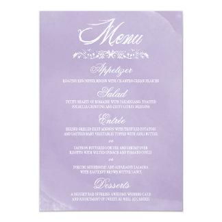 Aquarell-Hochzeits-Menü-Karten 12,7 X 17,8 Cm Einladungskarte