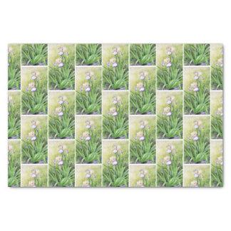 Aquarell-hohe Schwertlilie Seidenpapier
