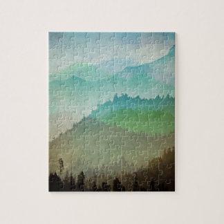 Aquarell-Hügel Puzzle