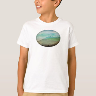 Aquarell-Hügel T-Shirt