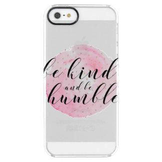 Aquarell ist nett und ist bescheidenes Zitat Durchsichtige iPhone SE/5/5s Hülle