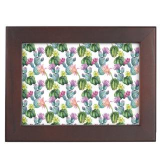 Aquarell-Kaktus-Kunst-Muster Erinnerungsdose