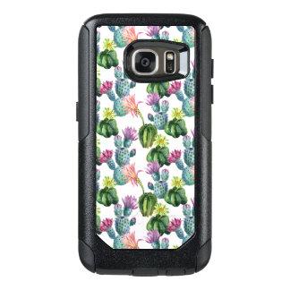 Aquarell-Kaktus-Kunst-Muster OtterBox Samsung Galaxy S7 Hülle
