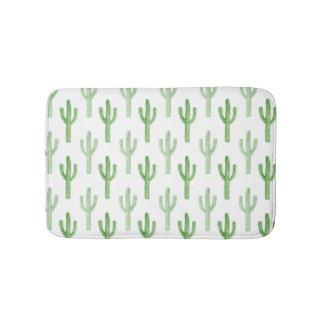 Aquarell-Kaktus-Muster Badematte