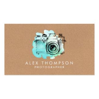 Aquarell-Kamera-Fotograf-Visitenkarten Visitenkarten