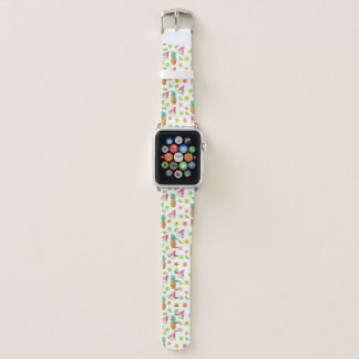 Aquarell-kandierte Frucht-Muster Apple Watch Armband