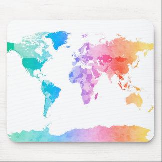 Aquarell-Karte der Weltkarte Mousepad
