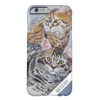 Aquarell-Katzen-kundenspezifischer Telefon-Kasten Barely There iPhone 6 Hülle