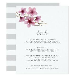 Aquarell-Kirschblüten-Gast-Einzelkarte Karte