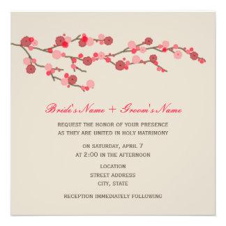 Aquarell-Kirschblüten-Hochzeits-Einladung