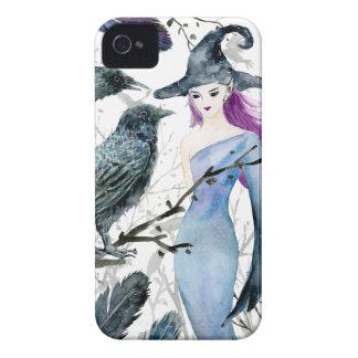 Aquarell-Krähen und Hexe iPhone 4 Hüllen