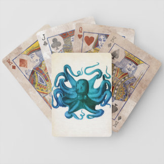Aquarell-Kraken-Illustration Bicycle Spielkarten