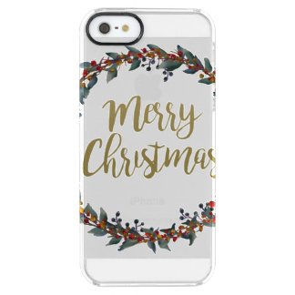 Aquarell-Kranz - frohe Weihnachten - Durchsichtige iPhone SE/5/5s Hülle