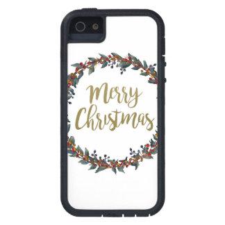 Aquarell-Kranz - frohe Weihnachten - iPhone 5 Schutzhülle