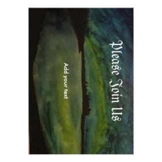 Aquarell-Kunst Invitatin Individuelle Ankündigungskarte