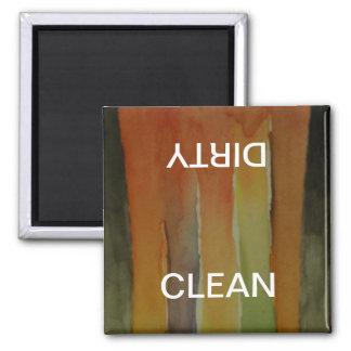 Aquarell-Kunst-sauberer schmutziger Spülmaschinen- Magnete