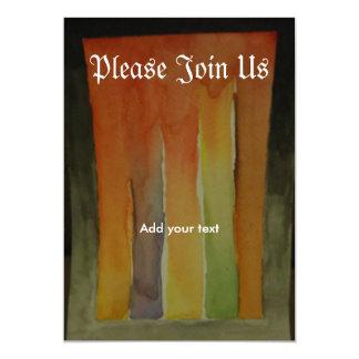 Aquarell-Kunst u. Wein-Einladung 12,7 X 17,8 Cm Einladungskarte