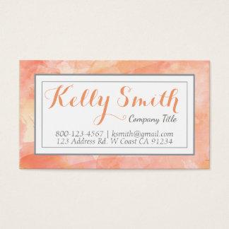 Aquarell-Künstler-modernes Geschäft, orange Visitenkarte