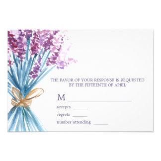 Aquarell-Lavendel-Hochzeits-Wartekarten Individuelle Einladungskarten