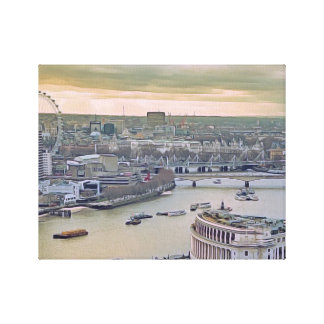 Aquarell London Leinwanddruck