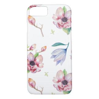 Aquarell-Magnolie iPhone 8/7 Hülle