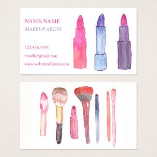 Aquarell-Make-upVisitenkarten Visitenkarte