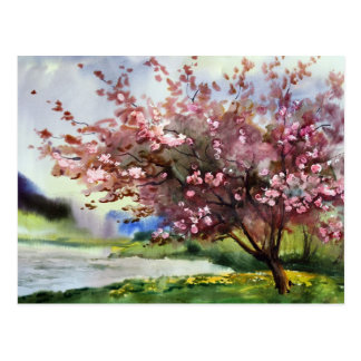 Aquarell-Malerei-Landschaft Postkarte
