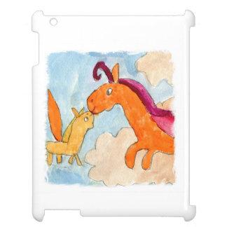Aquarell-Malerei mit Pegasus und seinem Fohlen iPad Hülle
