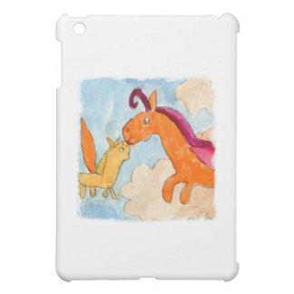 Aquarell-Malerei mit Pegasus und seinem Fohlen iPad Mini Hülle