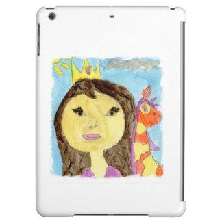 Aquarell-Malerei mit Prinzessin und Einhorn