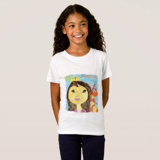 Aquarell-Malerei mit Prinzessin und Einhorn T-Shirt