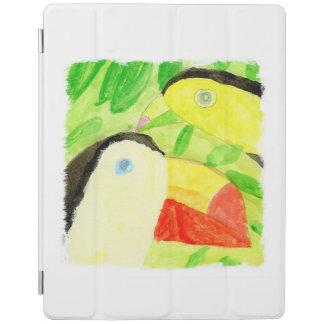Aquarell-Malerei mit Toucan Vogel-Paaren iPad Smart Cover