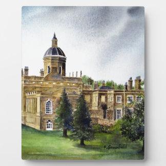 Aquarell-Malerei Schloss-Howards North Yorkshire Fotoplatte